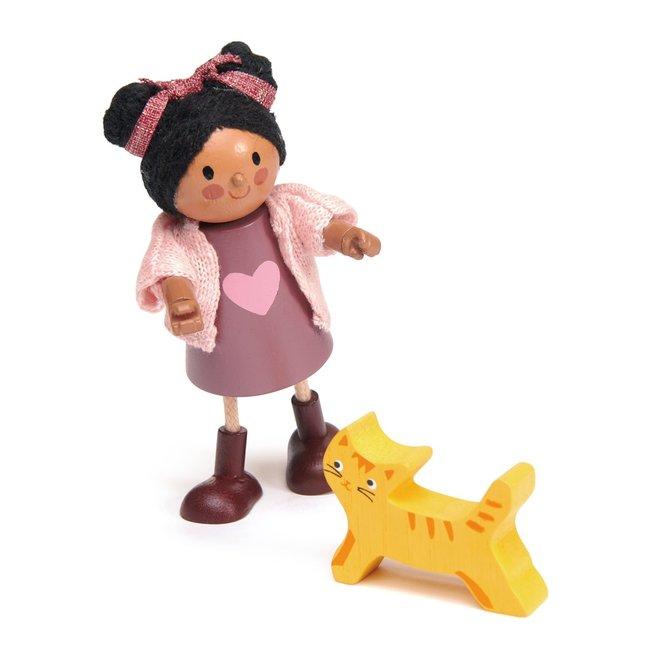 Popje Ayana en kat | Tender Leaf Toys