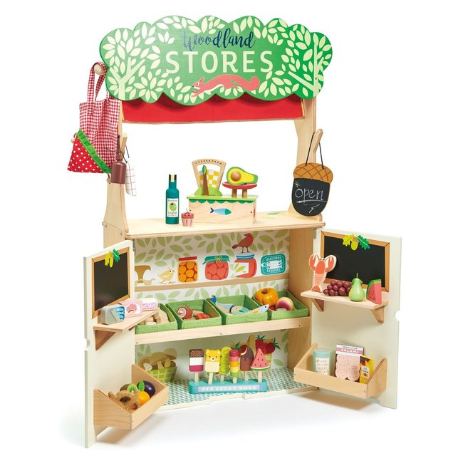 Tender Leaf Toys Winkeltje & Poppenkast 'Woodland'   Tender Leaf Toys