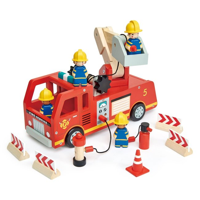 Tender Leaf Toys Brandweerwagen in hout | Tender Leaf Toys