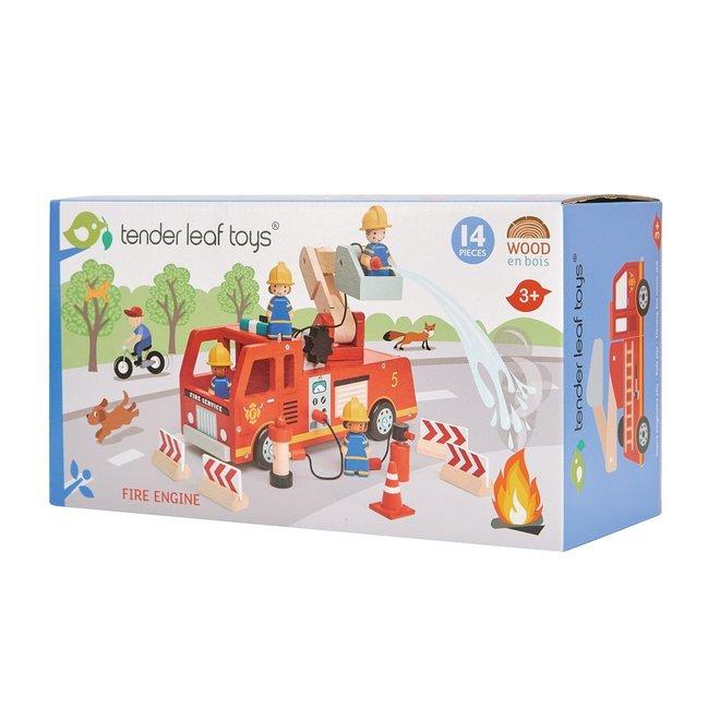 Brandweerwagen in hout | Tender Leaf Toys