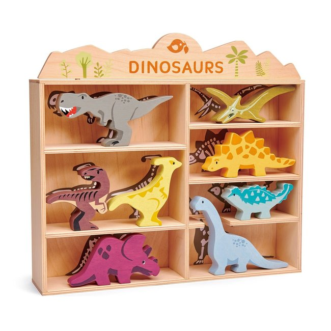 Tender Leaf Toys Set houten Dino's met display | Tender Leaf Toys