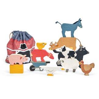 Tender Leaf Toys Stapelspel Boerderijdieren | Tender Leaf Toys