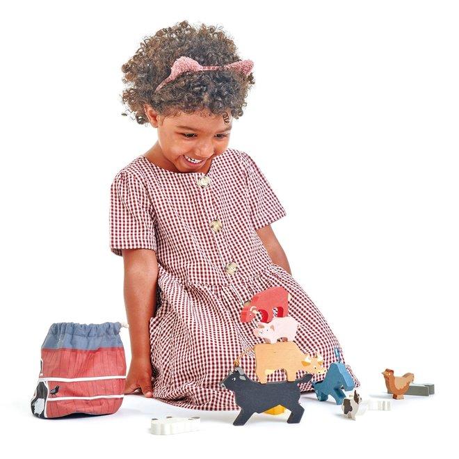 Stapelspel Boerderijdieren | Tender Leaf Toys