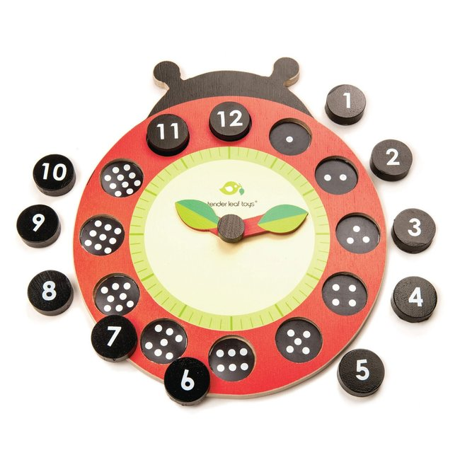 Leer de klok – houten spel    Tender Leaf Toys