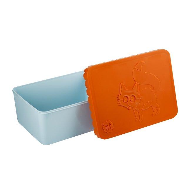 Brooddoosje Vos oranje/lichtblauw   Blafre