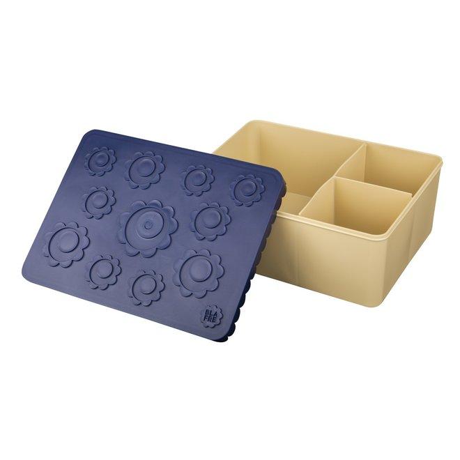 Brooddoos / Lunchbox  Flower Navy/Beige | Blafre
