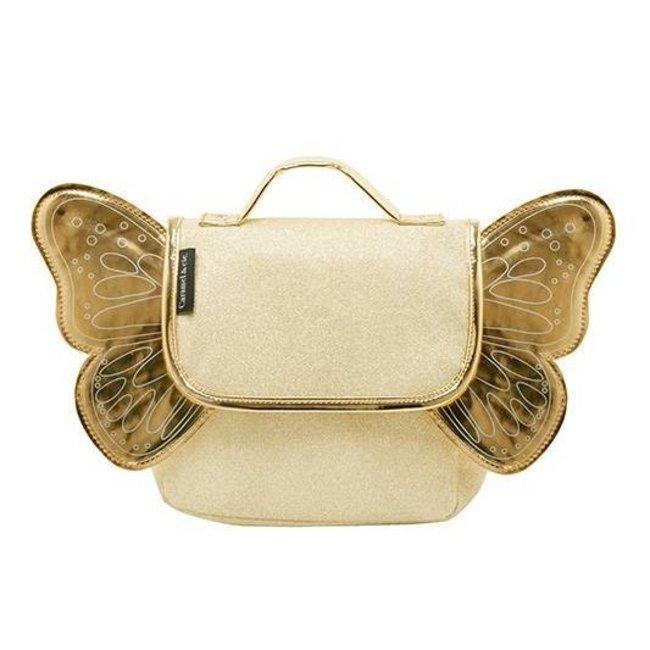 Caramel & Cie. Schooltasje Papillon Goud | Caramel & Cie