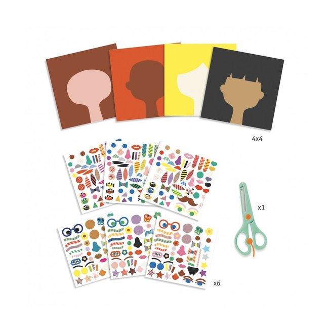 Knutselset: creëren met stickers - kapper | Djeco