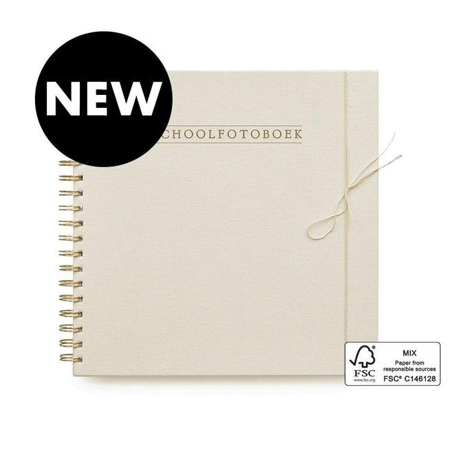 Schoolfotoboek - Linnen Ivoor (NL)  | House of Products