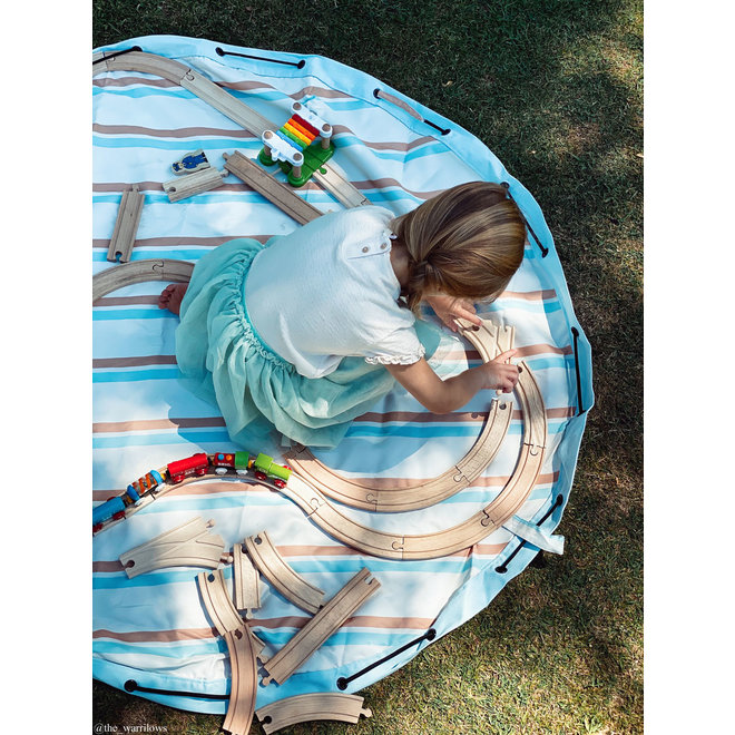 Opbergzak en speelmat Outdoor Stripes | Play&Go
