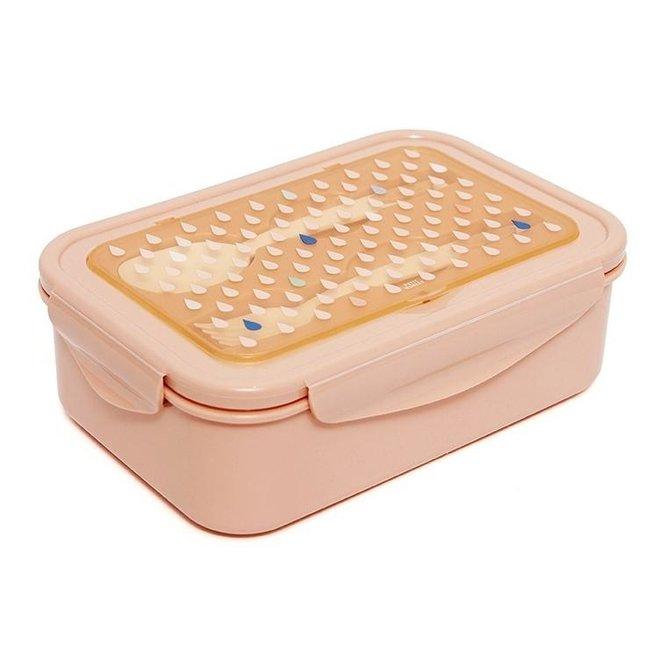 Bento lunchbox drops peach   Petit Monkey