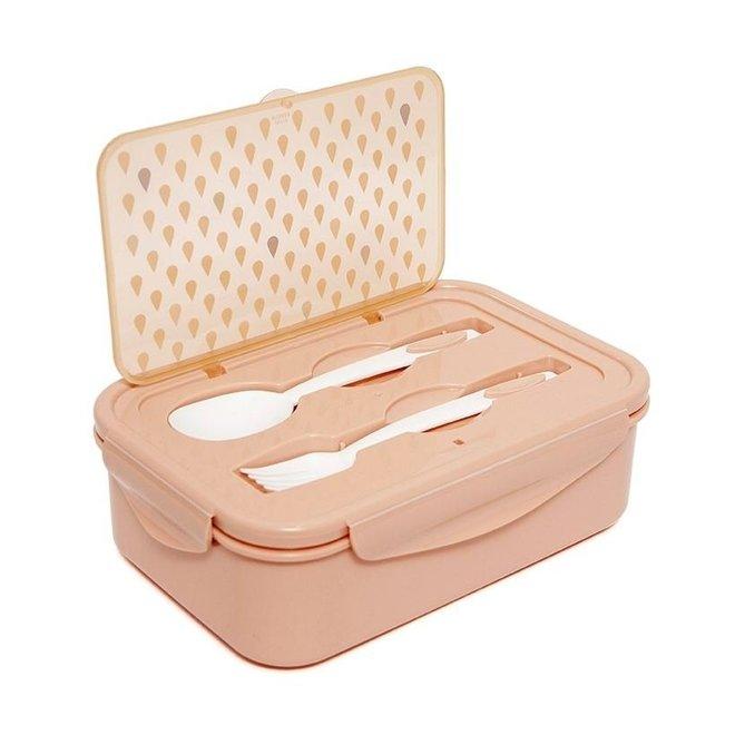 Bento lunchbox drops peach | Petit Monkey