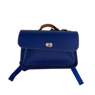 Own Stuff Kleuterboekentas Leder Klassiek – Cobalt