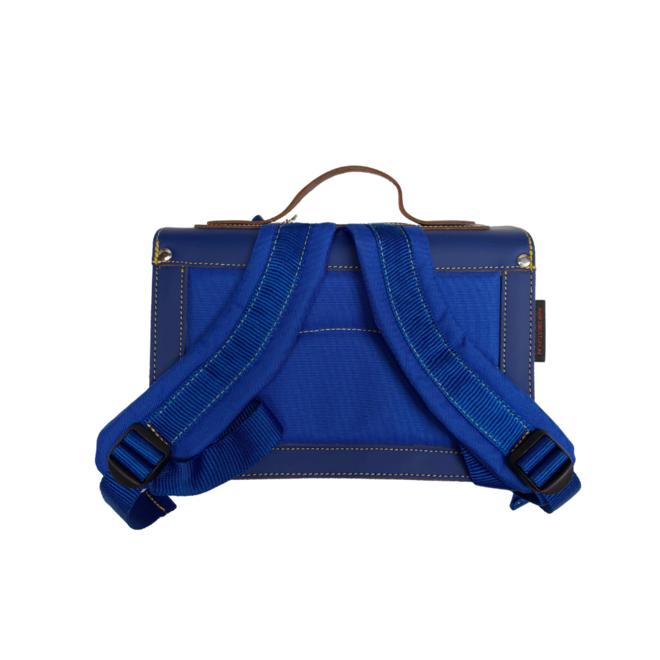 Kleuterboekentas Leder Klassiek – Cobalt