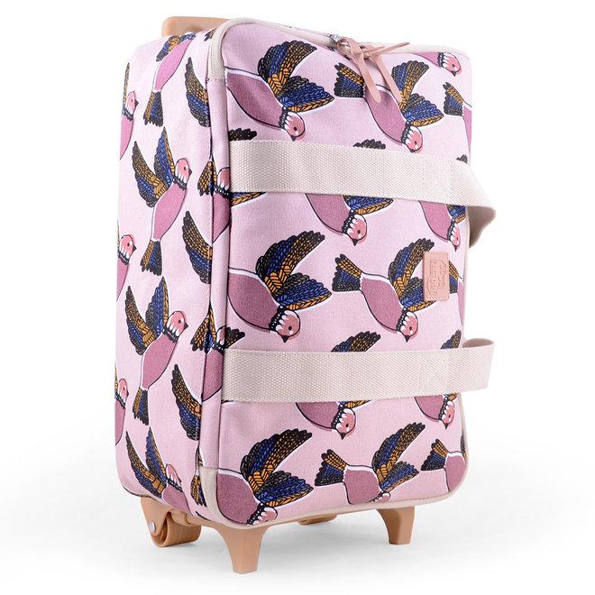Reiskoffer / Trolley Pink Birds | JoJo Factory