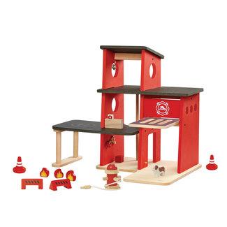 Plan Toys Houten Brandweerkazerne | Plan Toys