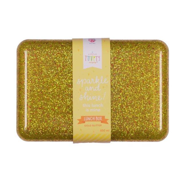 A Little Lovely Company Lunchbox Glitter Gold | A Little Lovely Company