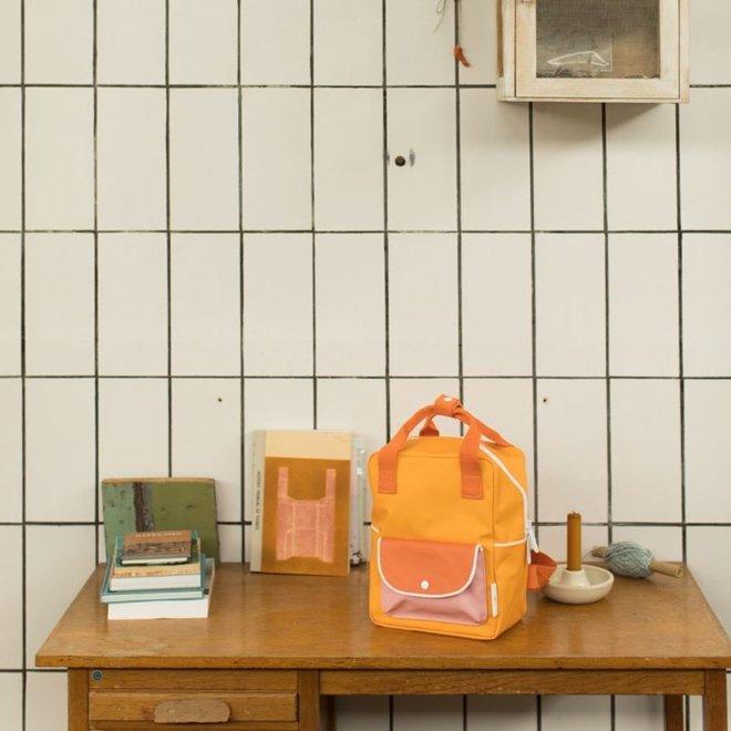 Rugzak Small Wanderer sunny yellow + carrot orange + candy pink | Sticky Lemon