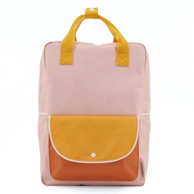Rugzak Large Wanderer candy pink + sunny yellow + carrot orange | Sticky Lemon