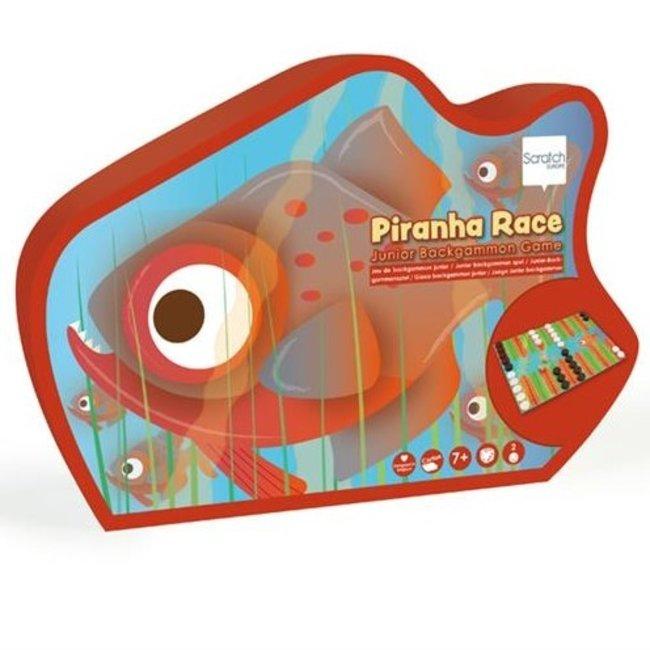 Junior -Back-Gammonspel Piranha Race   Scratch