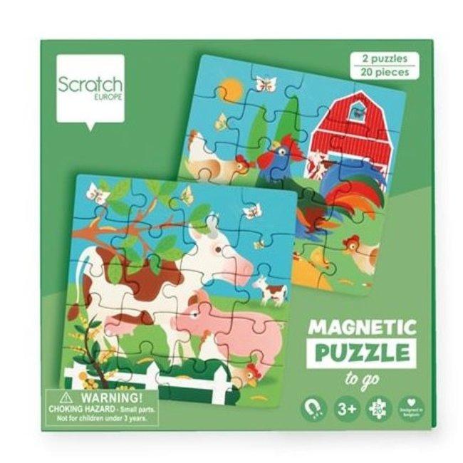 Magnetisch Puzzelboek To Go Boerderij 20st.   Scratch