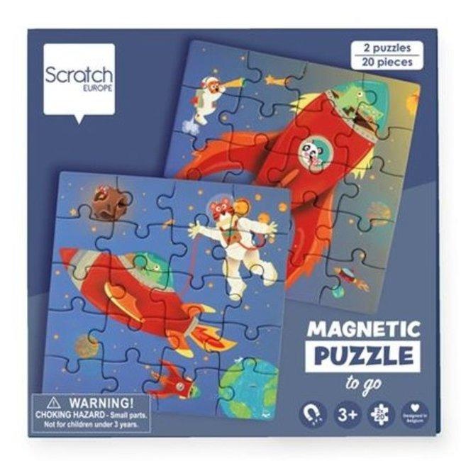 Scratch Magnetisch Puzzelboek To Go Ruimte 20st. | Scratch