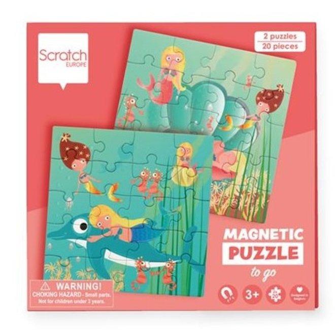 Magnetisch Puzzelboek To Go Zeemeerminnen 20st. | Scratch