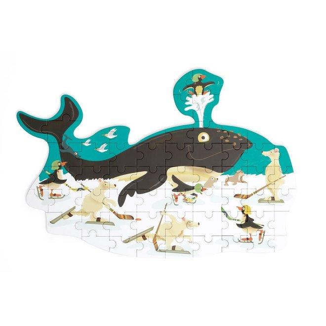 Contour Puzzel Walvis 60st. | Scratch