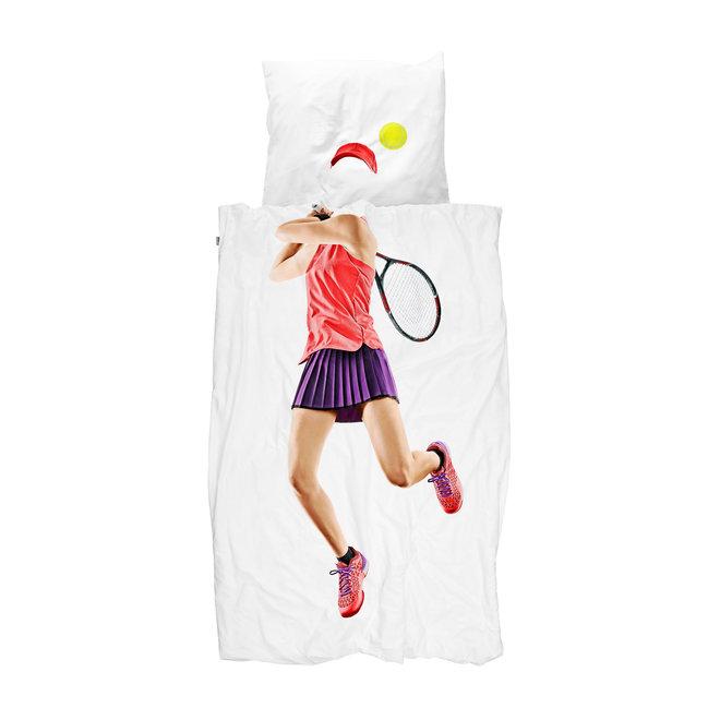Dekbedovertrek Tennis Speelster 140 x 200/220 cm