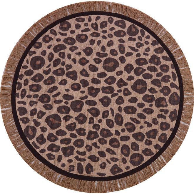 Tapijt Leopard Round Ø 120 cm