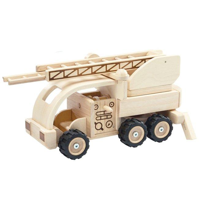 Houten Brandweerwagen   Plan Toys