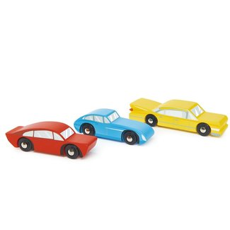 Tender Leaf Toys 3 Houten retro Auto's | Teander Leaf Toys