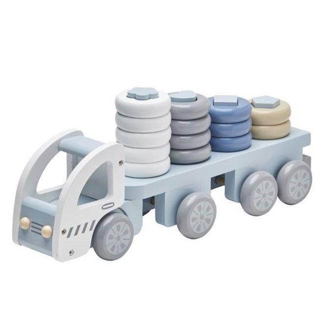 Speelgoed Vrachtwagen met Ringen Blauw | Kid's Concept