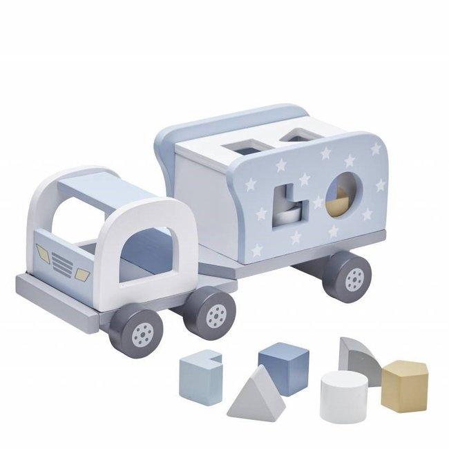 Speelgoed Vrachtwagen met Vormpjes Blauw   Kid's Concept