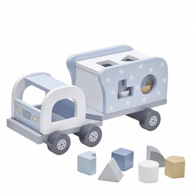 Speelgoed Vrachtwagen met Vormpjes Blauw | Kid's Concept