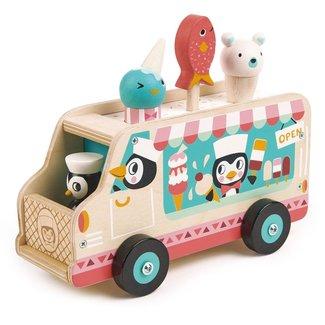 Tender Leaf Toys Houten ijscream truck Pinguins | Tender Leaf Toys