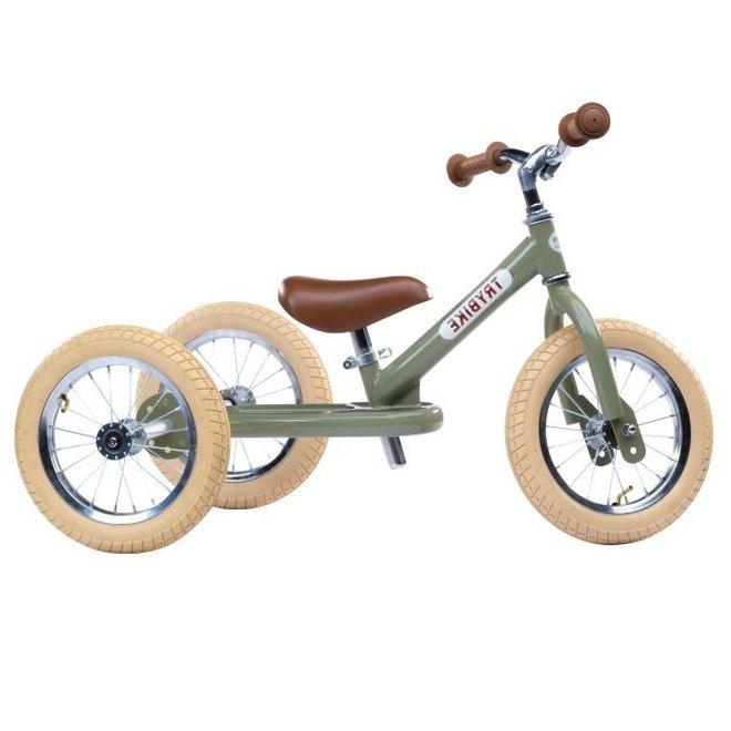 Trybike  Steel 2-1 loopfiets Vintage Green | Trybike