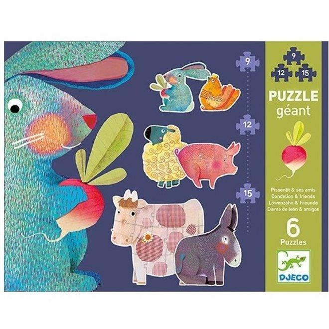 Puzzel XL Dandelion & Vrienden - 6 puzzels
