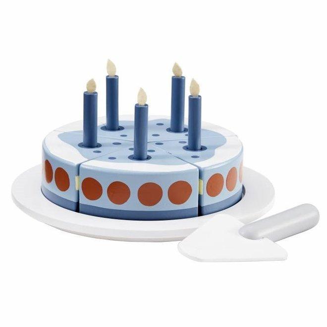 Houten Verjaardagstaart Blauw | Kid's Concept