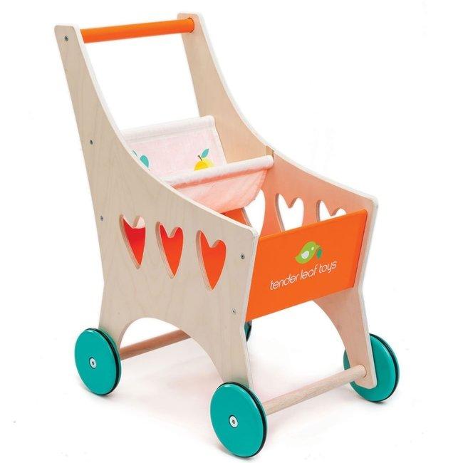 Tender Leaf Toys Houten winkelwagentje | Tender Leaf Toys