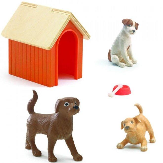 Poppenhuis Honden - 6st