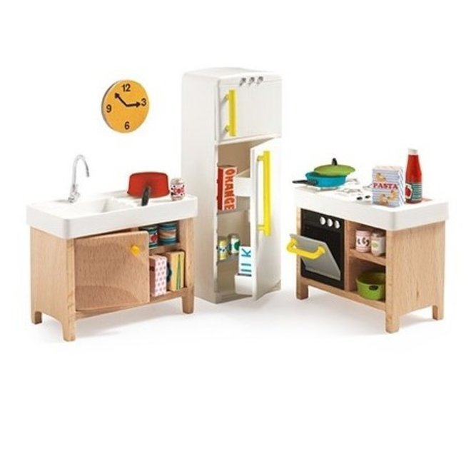 Poppenhuis Keuken - set 22st