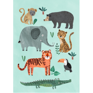 Petit Monkey Poster Wild Animals 50 x 70 cm
