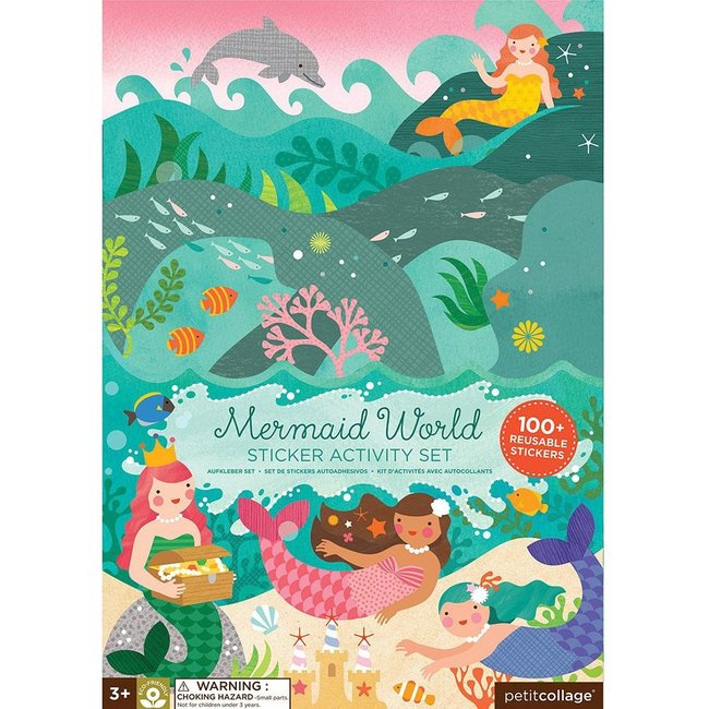 Petit Collage Stickerboek - Zeemeerminnen Wereld