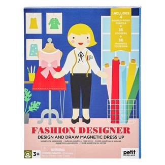 Petit Collage Magneet + Tekenset Fashion Designer