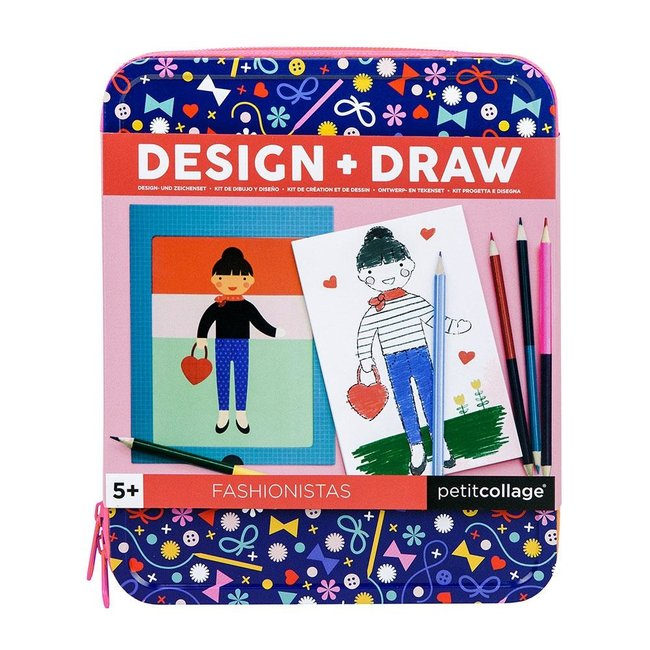 Petit Collage Fashionistas - Tekenset Design + Draw