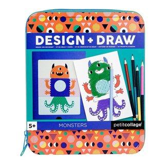 Petit Collage Monsters - Tekenset Design + Draw