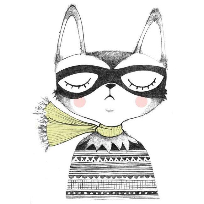 Studio Loco Muursticker Captain Cat XL