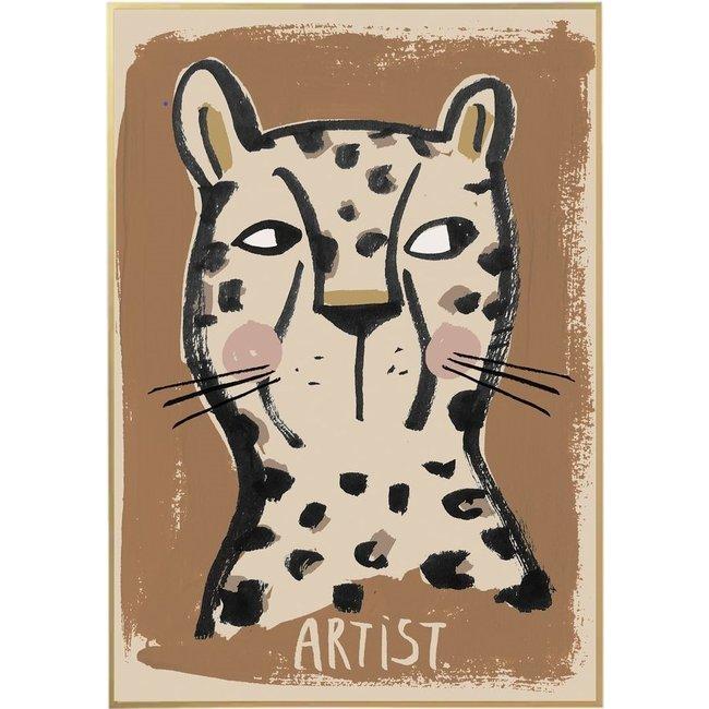Studio Loco Poster Artist Leopard 50x70cm