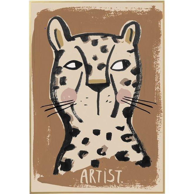 Poster Artist Leopard 50x70cm